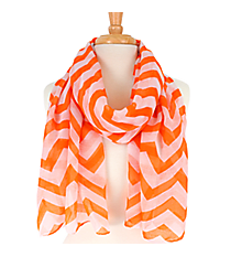 Orange Chevron Scarf #60856-ORG