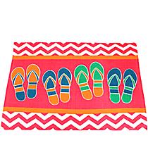 Pink Chevron Flip Flop Cotton Rug #60881-PINK