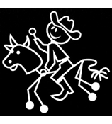 Bull Riding Male Vinyl Car Decal #SF34
