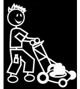 Lawn Mower Male Vinyl Car Decal #SF38