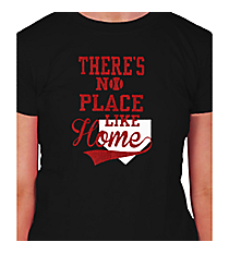 """There's No Place Like Home"" Ladies Short Sleeve Fitted T-Shirt Design SP50 *Choose Your Colors"