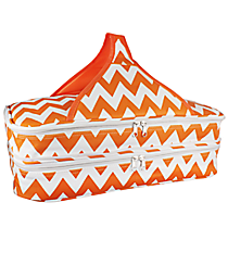 Orange and White Chevron Insulated Double Casserole Tote #641-JH1412-ORANGE