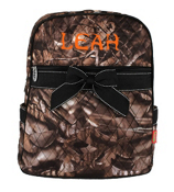 BNB Natural Camo Quilted Large Backpack with Black Ribbon #SNQ2828-BLACK