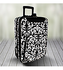 "20"" Black and White Damask Luggage #T6701-501"