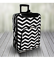 "20"" Black and White Chevron Luggage #T6701-165-B/W"