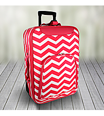 "20"" Fuchsia and White Chevron Luggage #T6701-165-F/W"