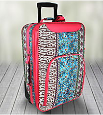 "20"" Bohemian Spirit with Fuchsia Trim Luggage #T6701-647-F"