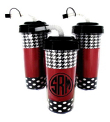 Hound Around Travel Tumbler with Black Top #575B *Choose Your Initial