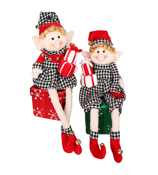 "One 24"" Merry Mischief Elf in Houndstooth #75878 *Choose Your Style"