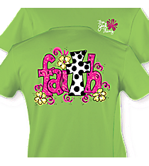 """Faith"" Lime T-Shirt #6839 *Choose Your Size"