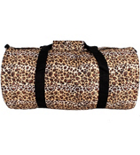 Leopard with Black Trim Roll Duffle Bag #SD-2008