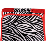 Zebra with Red Trim Small Roll Up Jewelry Bag #CB50-2006-R
