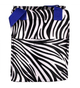 Zebra with Blue Trim Insulated Lunch Tote #LT11-2006-B
