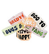 Pack of 6 Glow-in-the-Dark Halloween Big Band Bracelets #25/6338