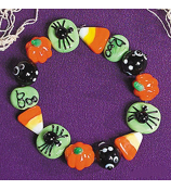 Halloween Glass Beaded Bracelet #25/6170