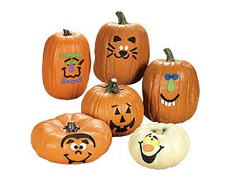 12 foam pumpkin decorating craft kits 48 3793 wholesale. Black Bedroom Furniture Sets. Home Design Ideas