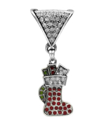 Crystal Accented Stocking Scarf Pendant #50812-STOCKING