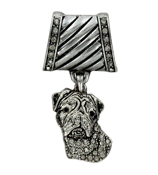 Crystal Accented Dog Scarf Pendant #51363-DOG
