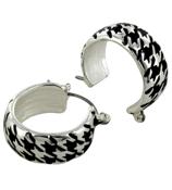 Houndstooth Hoop Earrings #AE1010-ASJ