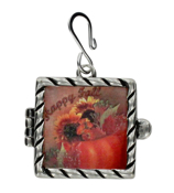 """Happy Fall"" Pumpkin Boutique Shadow Box Pendant #51539-SB"