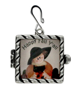 """Happy Fall Y'all"" Scarecrow Shadow Box Pendant #51543-SB"