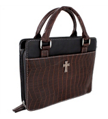 Brown Croco Purse-Style Bible Cover #BBL214