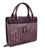 Purple Croco Purse-Style Bible Cover #BBL438