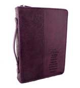 Dark Purple Hebrews 11:1 Bible Cover #BBL351