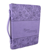 Periwinkle Psalm 100:2 Bible Cover #BBL490
