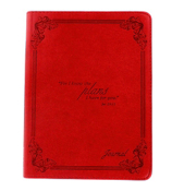 Jeremiah 29:11 Red LuxLeather Flexcover Journal #JL129