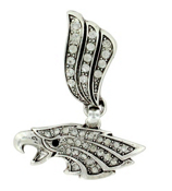Crystal Accented Eagle Head Scarf Pendant #51002-EAGLEHEAD