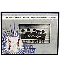 Philippians 4:13 Baseball Photo Frame #WPF009
