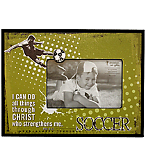 Philippians 4:13 Soccer Photo Frame #WPF010