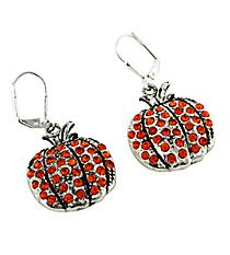 Crystal Accented Pumpkin Earrings #48023-PUMPKIN