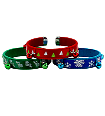 One Christmas Cuff with Bells #YT-CUFF-SHIPS ASSORTED