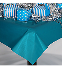 Turquoise Plastic Tablecloth #70/1296