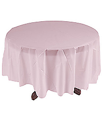 1 Light Pink Round Tablecloth #70/1711