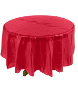 One Hot Pink Plastic Round Tablecover #70/1712