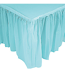 1 Light Blue Pleated Table Skirt #70/1724