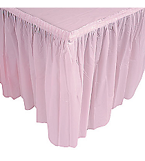 1 Light Pink Pleated Table Skirt #70/1726