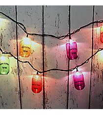 Multi-Color Mason Jar String Lights #70022
