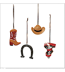 One Dozen Cowboy Ornaments #4/4492-SHIPS ASSORTED