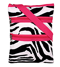 Mega Zebra with Pink Trim Hipster #T10-2007-P