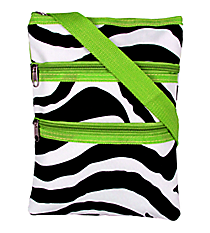 Mega Zebra with Green Trim Hipster #T10-2007-G