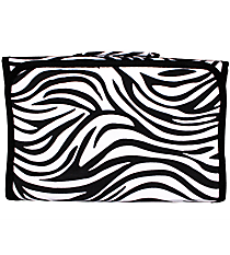 Zebra with Black Trim Roll Up Jewelry Bag #J-2006