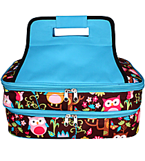 Owl Give a Hoot Insulated Double Casserole Tote #WQL391-TQ