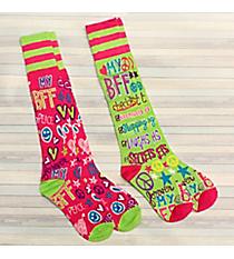 2 Pairs BFF Knee Socks #72017