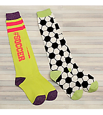 2 Pairs Soccer Knee Socks #72040