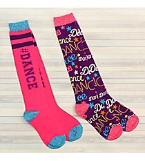 2 Pairs Dance Knee Socks #72041