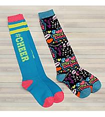 2 Pairs Cheer Knee Socks #72042